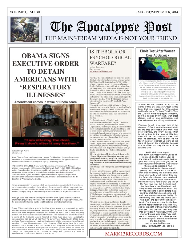 The Apocalypse Post Volume One, Issue #1-page-0